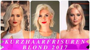 Kurzhaarfrisuren Blond 2017 Youtube