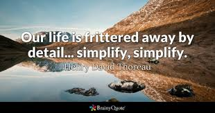 Simplify Life Quotes