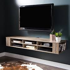 "South Shore City Life Wall Mounted Media Console, 66"", Weathered Oak"