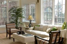 interior: Bewitching View In Sun Room Desaign Ideas With Big White Sofa  Near Two Bench