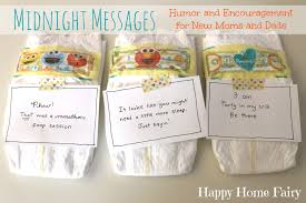 Midnight Messages for New Mommies - FREE Printable! - Happy Home Fairy