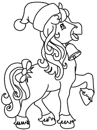 Horse Christmas Coloring Pages Coloring Page Book For Kids
