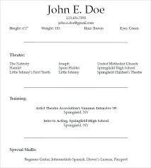 Acting Resume Sample Actors Resume Sample Acting Resume Beginner