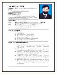 Resume For Job Application Principal 10 Cv Format Basic Appication