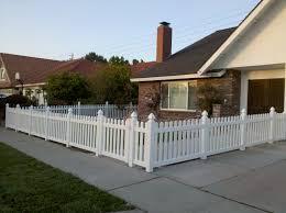 vinyl picket fence front yard. Front Vinyl Fence Picket Yard