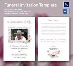 memorial service invitation celebration of life invitation template stirring memorial service