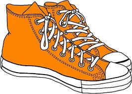 converse shoes clipart. orange converse by sam w shoes clipart