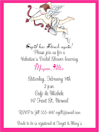 valentines party invitations cupid bridal shower valentines party invitations