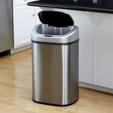 Nine Stars DZT-50-9 Touchless Stainless Steel 13.2 Gallon Trash Can |  Hayneedle