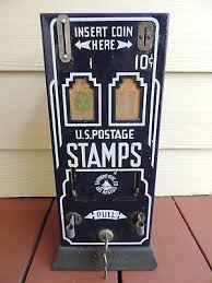Postage Vending Machines Gorgeous ANTIQUE CIRCA 48'S48'S Porcelain Front Coin Op Postage Stamp