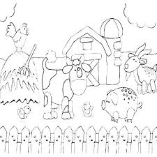 Coloring Barnyard Animals Coloring Pages Free Printable Farm Animal