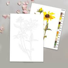 Choose the flower patterns and images that you want, and print them out now. Yellow Flowers Color By Number Kit Printable Flower Color By Etsy