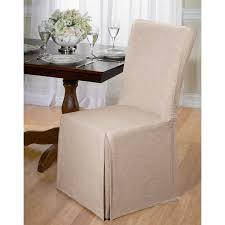 chambray cotton dining chair slipcover to zoom