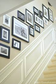 black picture frames wall. Picture Frame Wall Ideas Black Frames Of Different Size .