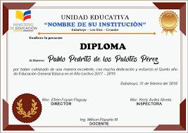 Diplomas Editables En Word Para Imprimir Ayuda Docente Diplomas