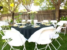 wonderful round table party design with white