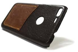 google pixel xl leather case chocolate and bruciato one card slot detail