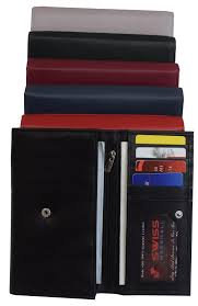 women rfid blocking real leather wallet clutch checkbook wallet for women