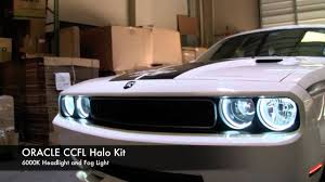 dodge challenger oracle headlight halo installation by advanced automotive concepts you