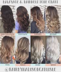 Wheat Hair Color Chart