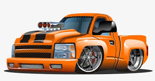 Hand-drawn Cartoon Cartoon Illustration Pickup Truck, Cartoon ...