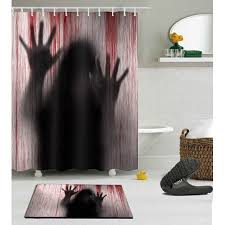 Meigar <b>Halloween</b> Horror <b>Blood Handprint</b> 3D Digital Printed ...