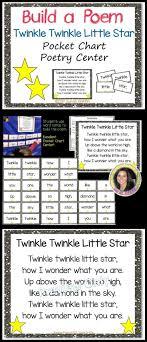 Star Student Pocket Chart Build A Poem Twinkle Twinkle Little Star Pocket Chart