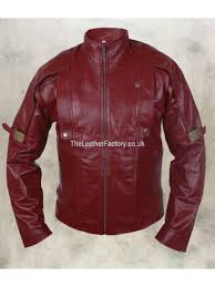 guardians of the galaxy chris pratt celebrity replica leather jacket red