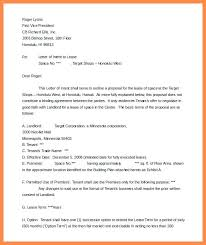 Lease Proposal Letter New Intent To Lease Template Intent To Lease Template Lease Option