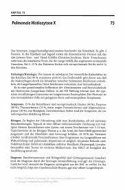 Pulmonale Histiozytose X Springer