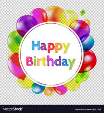 Banner Birthday Happy Birthday Banner With Balloons Royalty Free Vector