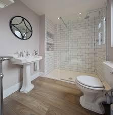white wood tile bathroom. Plain Wood Light Purple Bathroom Walls White Subway Tile Shower Wood Floors  Bathrooms Intended P
