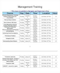 Training Calendar Templates Employee Schedule Template Log Annual ...