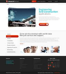 Business Website Templates Free HTML24 Website Template Industrial Services 24
