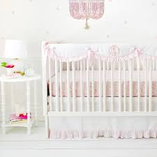 Pink Woodland Crib Rail Cover Set Girl Baby Bedding