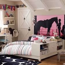 bedroom, Unique Bedroom Decorating Idea With Horse Silhoutte Wall Print  Also Paired With Elegant Beds. bedroom, Funky Teenage Girl ...