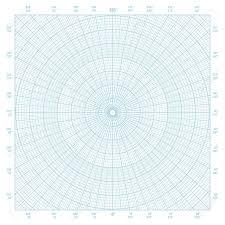 Blue Vector Polar Coordinate Circular Grid Graph Paper Background