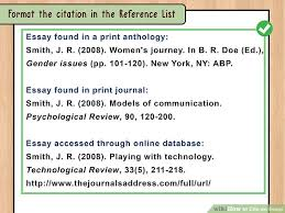 ways to cite an essay wikihow image titled cite an essay step 16 5 format the citation in