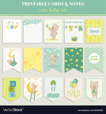 Baby Card Notes Baby Boy Card Set For Birthday Baby Shower