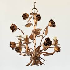 italian iron chandelier with roses