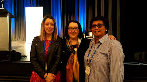 """South32 on Twitter: """"Our VP Supply, Rowena Smith, with our first all-female  drill crew, Naomi & Lilibeth, today at the @WomenInMiningWA Summit.  #WIMWA17… https://t.co/pRlC038vv4"""""""