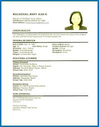 Sample Resumes 2017 Fascinating Sample Format Resume 60 For Job Application Pertaining To Simple
