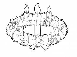 Small Picture Advent Wreath and Candles Coloring Pages Batch Coloring