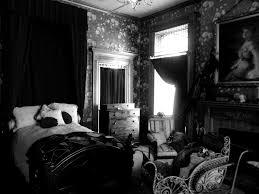 Victorian Bedroom Victorian Bedroom Black And White Museum Room Darkened Up Flickr