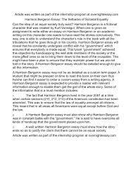 calam atilde copy o harrison bergeron essay the setbacks of societal equality