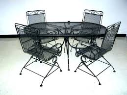 metal patio furniture black iron outdoor chairs