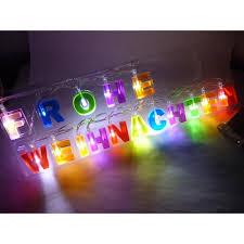 Led Lichterkette Fensterdeko Schrift Schriftzug Frohe Weihnachten Weihnachtsdeko Dekoration Bunt Weihnachtsbeleuchtung