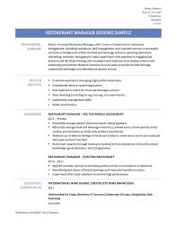 Fast Food Restaurant Manager Resume Restaurants Resume Sample Fast Food Waitress Restaurant