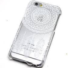 Dream Catcher Case Iphone 7 Plus Black Ink Mandala Dream Catcher iPhone Case Transparent Clear 82