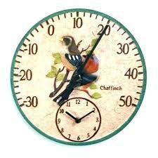 terracotta garden thermometer decorative terracotta garden clock